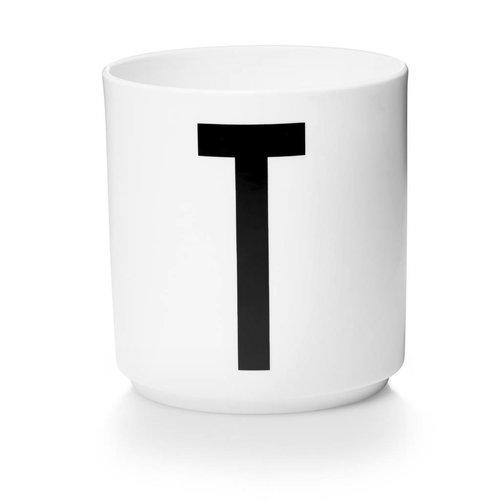Design Letters Aj porseleinen mok - T
