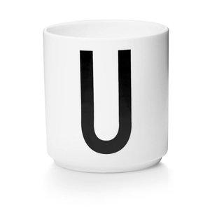 Design Letters Aj porseleinen mok - U