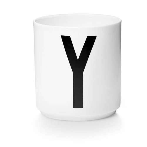 Design Letters Aj porseleinen mok - Y