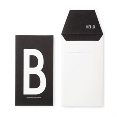 Design Letters Letter kaart - B