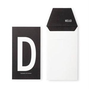 Design Letters Letter kaart - D
