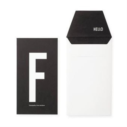 Design Letters Letter kaart - F