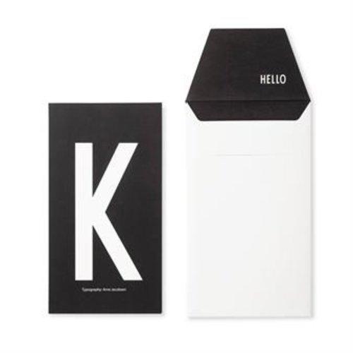 Design Letters Letter kaart -K