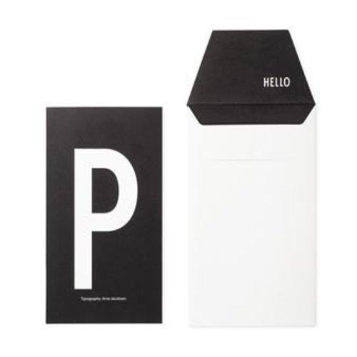 Design Letters Letter kaart - P