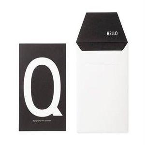 Design Letters Letter kaart - Q