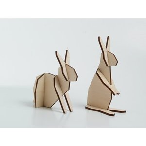 Atelier Pierre Nordic puzzel 2 konijntjes S
