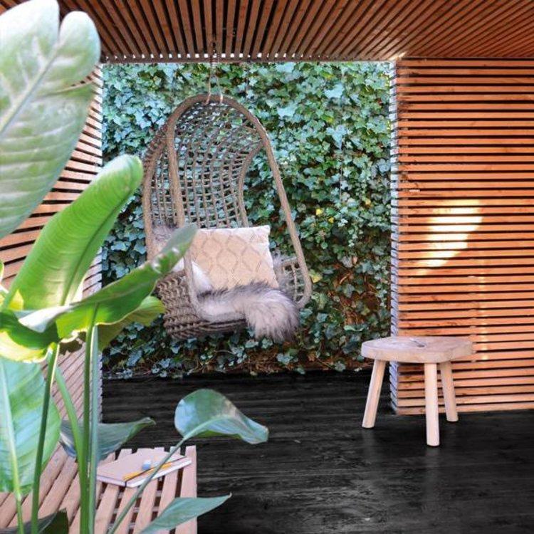 Hk Living Hangstoel Buiten.Hk Living Hangstoel Buiten Grijs Nordic Living