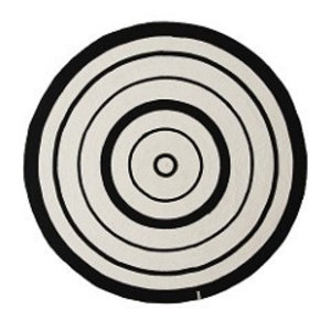 OYOY vloerkleed cirkel zwart/wit