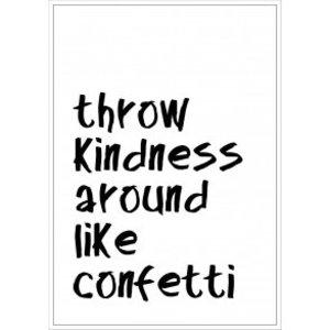 Tile Junkie Postkaart Throw Kindess