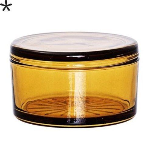 Bloomingville Voorraadpot met deksel amber