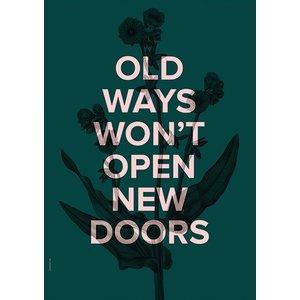 I Love My Type Poster New Doors - Racing green