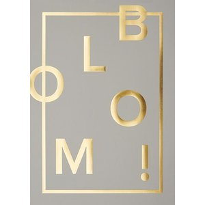 I Love My Type Poster Bloom! - real grey