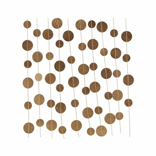 House Doctor Garland, Dots, gold