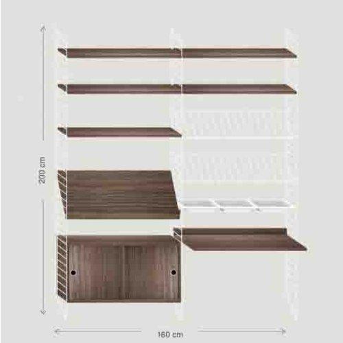 String Furniture: wandrekken & modulair kastensysteem | Nordic Living Wandmeubel