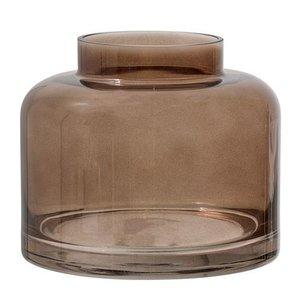 Bloomingville Vaas glas, bruin