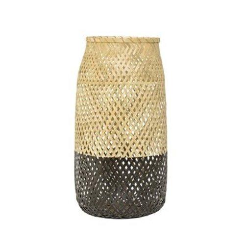 Bloomingville Lantaarn Bamboo/Zwart