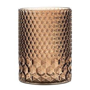 Bloomingville Waxinelichthouder bruin glas hoog
