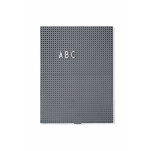 Design Letters Message Board A4 Dark Grey