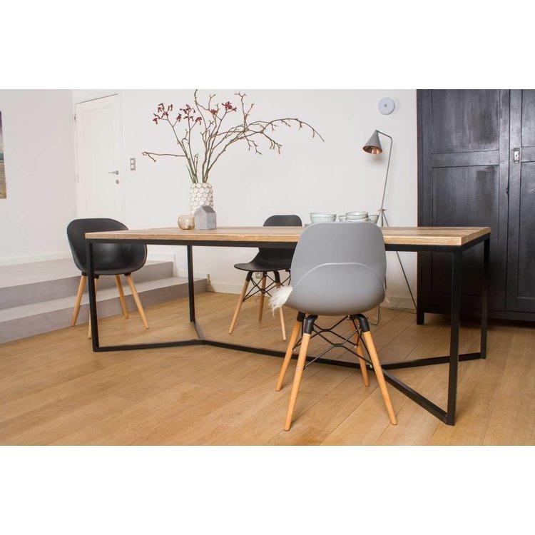 Stalen Design Tafel.Farstad Industriele Tafel Steigerhout Stalen Frame Kruis Nordic