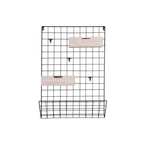 pt, Memo rack Grid black wooden baskets