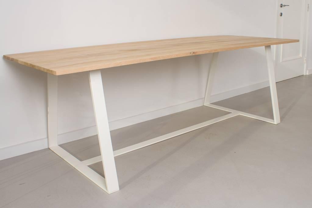 Houten tafelonderstel maken houten tafel op maat restylexl