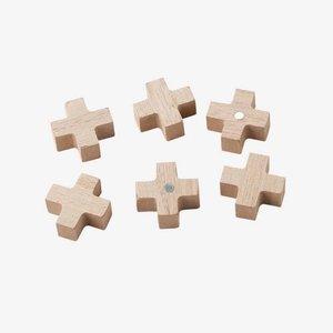 VTwonen Magneten Hout - Set van 6