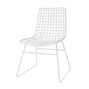 HK Living Metalen draadstoel zonder armleuning - wit