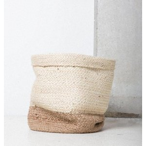 Urban Nature Culture Urban Nature Culture, Mand, White Jute, Ø34x28 cm, 102646