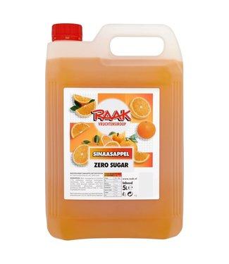 Raak Siroop Zero Sinaasappel  4x5L