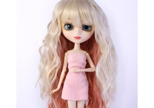 Groove Wig Selection Wavy Style Hair (Blond with Pink Slice)