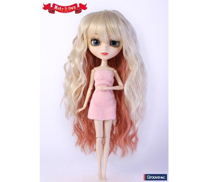 Wig Selection Wavy Style Hair (Blond with Pink Slice)
