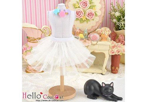 Coolcat Tulle Cake Mini Skirt White