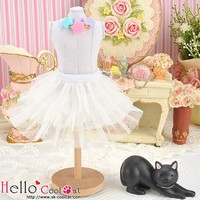 Tulle Cake Mini Skirt White