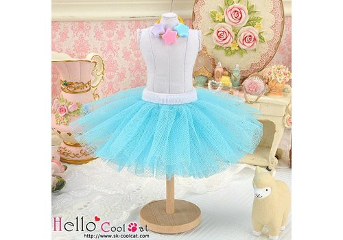 Coolcat Tulle Ball Mini Skirt Sky Blue