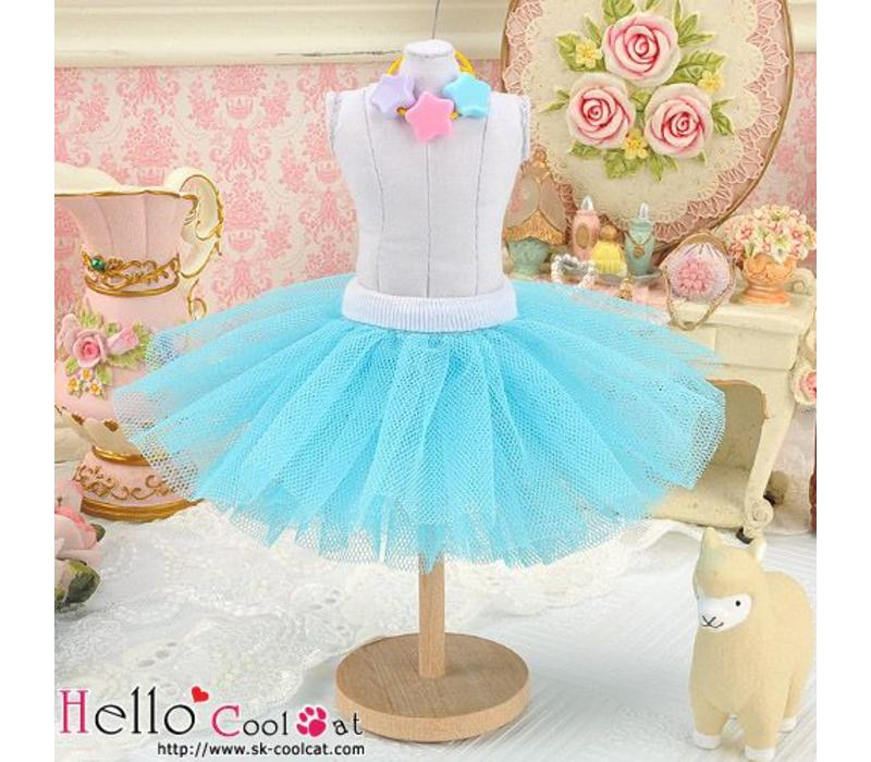 Tulle Ball Mini Skirt Sky Blue