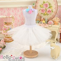 Tulle Ball Mini Skirt White