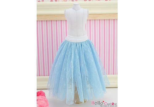 Coolcat Long Tulle Ball Skirt Blue (Dot)