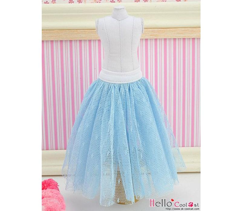 Long Tulle Ball Skirt Blue (Dot)