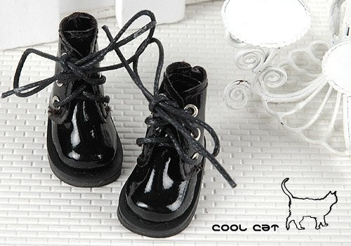 Coolcat Shoes Short Shiny Black