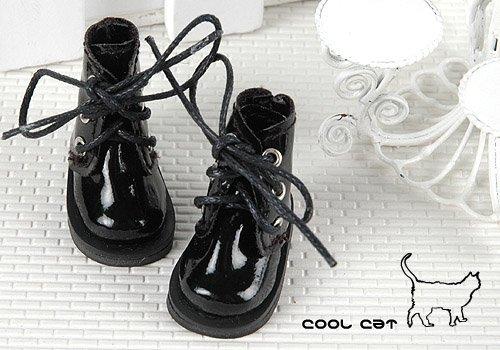 Coolcat Shoes Short Shiny Black