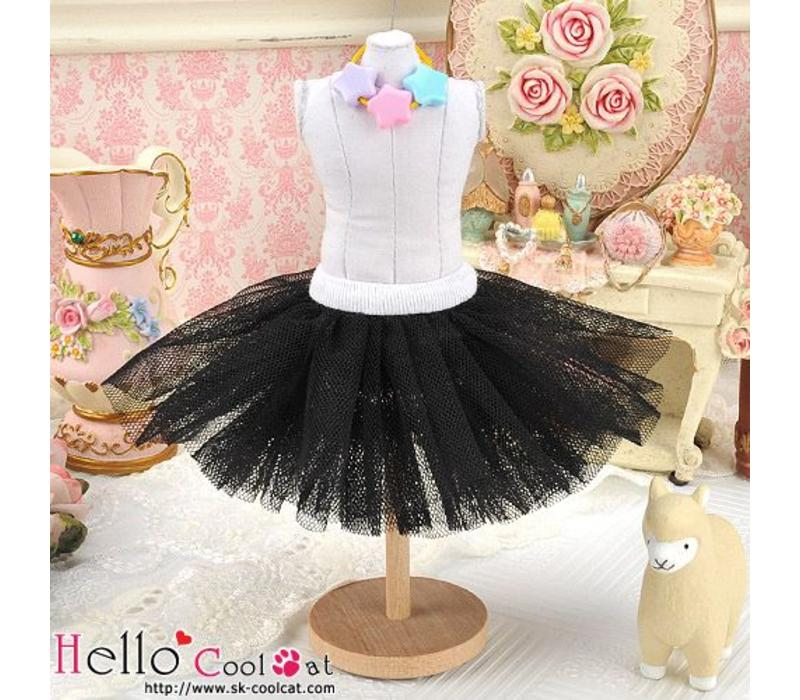 Tulle Ball Mini Skirt Black