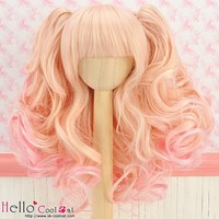 Wig Wavy Gold & Pink