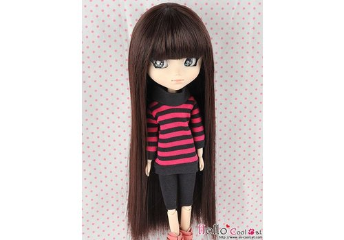 Coolcat Wig Long Straight Dark Brown