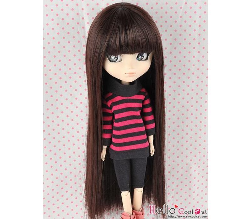 Wig Long Straight Dark Brown