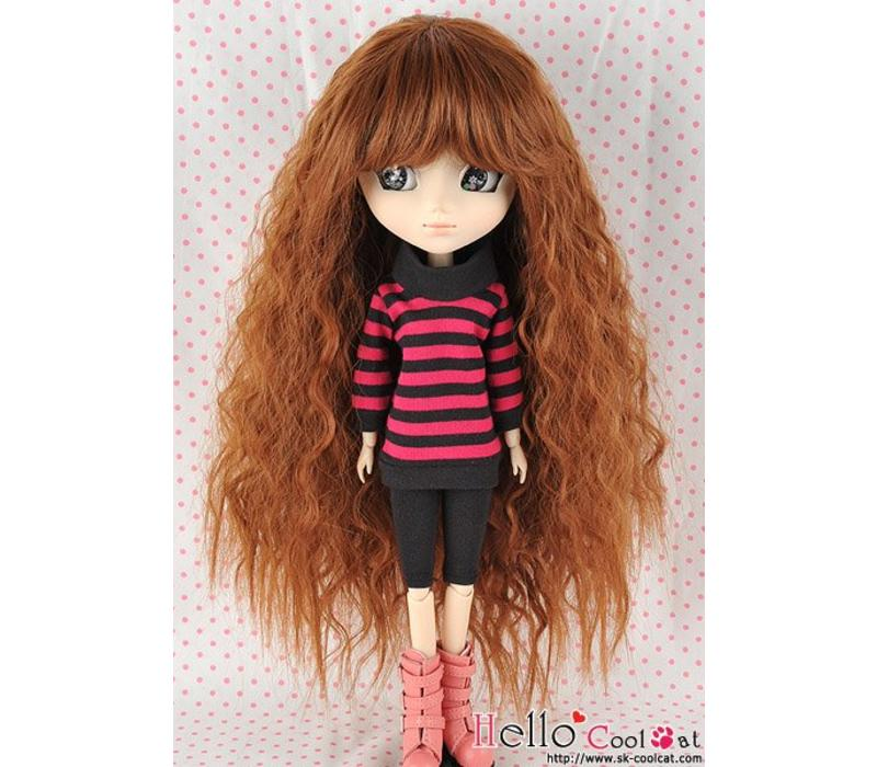 Wig Long Wave Brown
