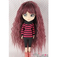 Wig Long Wave Plum Mix Gray