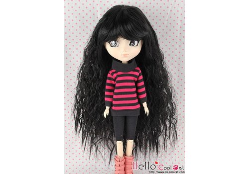 Coolcat Wig Long Wave Black