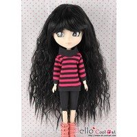 Wig Long Wave Black