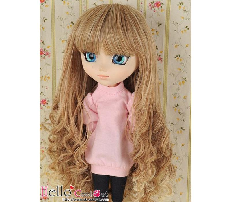 Wig Long Wave Pale Gold Mix Gold