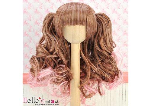 Coolcat Wig Wavy Brown & Pink